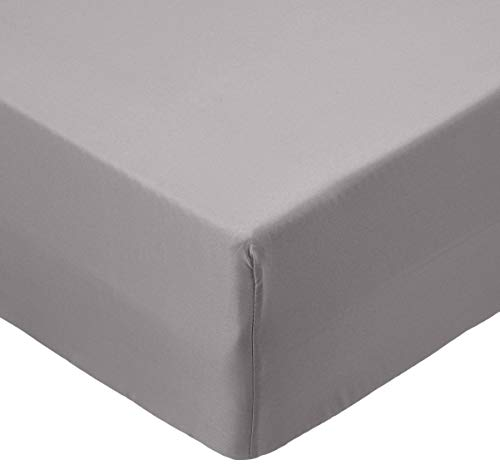 Amazon Basics AB Microfiber, Microfaser, Dunkelgrau, 90 x 190 x 30 cm