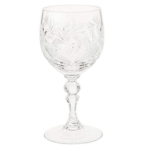 N/Z Equipo para el hogar Juego de 6 Copas de Vino de Cristal Ruso con vástago de 250 ml Estilo clásico Hecho a Mano