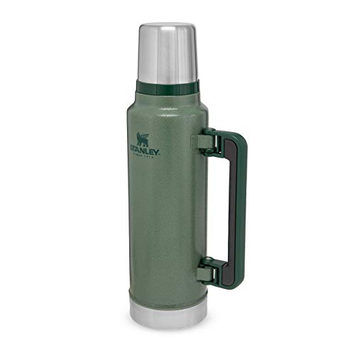 Photo of Stanley Classic Legendary Bottle BPA Free Stainless Steel Thermos – Hot for 40 Hours Leakproof Lid Doubles as Cup-Dishwasher Safe, Hammertone Green, 1.4 L