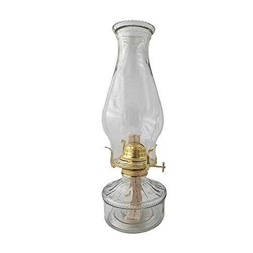 WKZYLKK Lámpara de aceite de cristal de queroseno - Lámpara de aceite clásica de interior grande