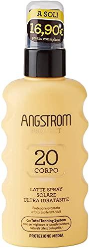 Angstrom Protect Latte Solare in Formato Spray, Protezione Solare Corpo 20+ con Azione...