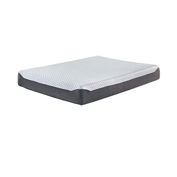 Ashley Chime 12 Inch Plush Hybrid Mattress – CertiPUR-US Certified Foam