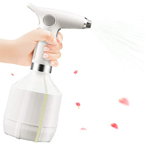 じょうろ 電動式 噴霧器 スプレー電動 霧吹き電動 全自動じょうろ 散水用具 園芸 農薬散布 掃除 電池内蔵 便利 家庭用 日本語説明書付 (白)
