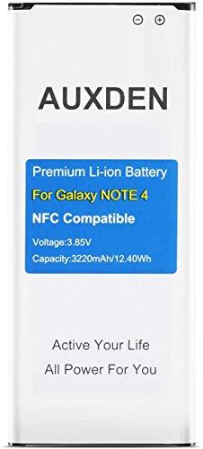 [NFC Incorporado] Auxden Batería para Samsung Galaxy Note 4 [3220 mAh] Batería de Repuesto de Litio-Ion para Samsung Note 4...