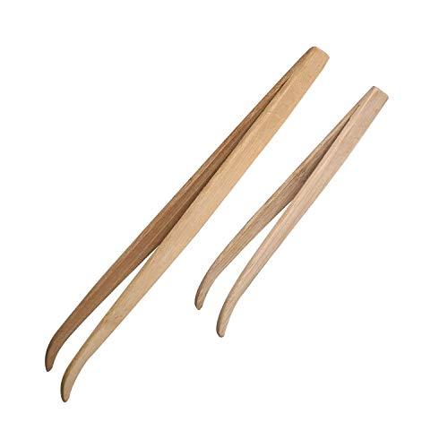ASOCEA Lot de 2 pinces à épiler en bambou respectueux de l'environnement, idéales pour iganes, dragons barbus, lézards, geckos, tortues et coraux
