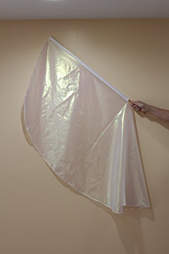 Iridescent White Flag/PRAISE DANCE WORSHIP FLAGS/BANNERS OF WORSHIP,Inc/PROPHETIC DANCE WORSHIP FLAGS
