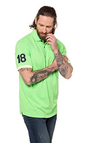 JP 1880 Herren große Größen Übergrößen Menswear L-8XL Poloshirt, FLEXNAMIC® neongrün 4XL 726722 42-4XL