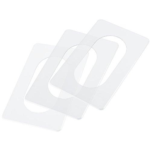 pekarek® Schutz / Dekor Platte Transparent – Für Licht Schalter und Steckdosen 2 fach (3 Stück)