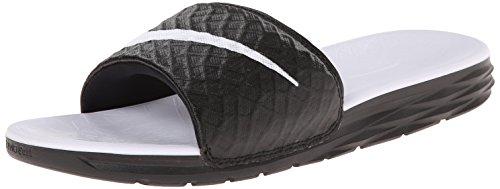 Nike Damen WMNS Benassi Solarsoft Zehentrenner, Schwarz (Black/White 010), 40.5 EU