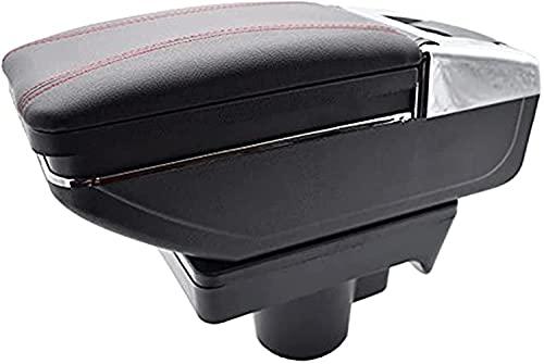 QZSM para Opel Astra H 2004-2014 Caja De Almacenamiento Reposabrazos Contenido Armés Rotativo Black Cierre De Cuero Cenicero Armaño De Automóviles Accesorios Coche (Color : 2)