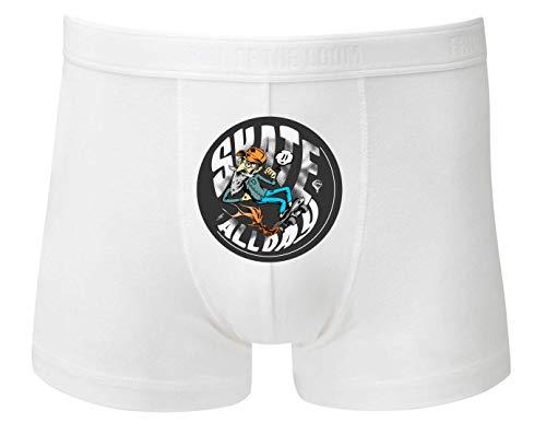 Druckerlebnis24 Boxershort - Skate Allday Skateboard Hipster - Unterhose für Herren und Männer