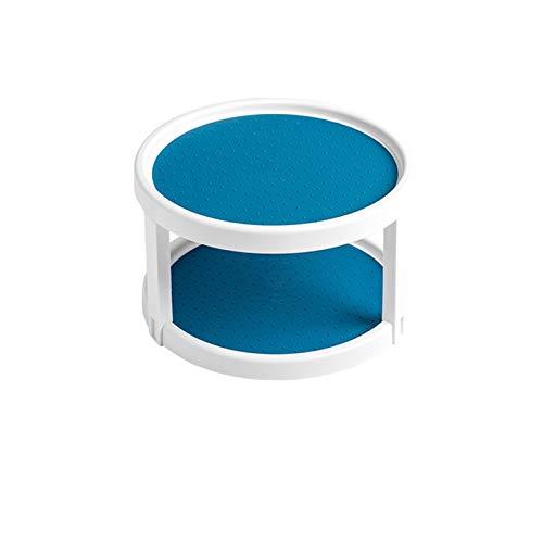 Especiero 360 grados Gorra de 2 niveles Especias Fruit Bandeja Tabla de torneado Rotatable Desktop Almacenamiento Hogar Cocina Almacenamiento Soporte Almacenamiento de cocina, almacenamiento de especi