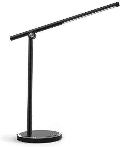 Lámpara LED de escritorio con control táctil LED de 12 W regulable, cuidado de los ojos para estudio, lectura, oficina y dormitorio, clase energética A+, luz