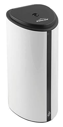 Lacor 91542-Soporte (160 cm) + Dispensador automático de jabón/Gel hidroalcohólico con Sensor y detección Entre 5-9 cm de Altura, Cierre con Llave, función de Bloqueo Anti-Robo, Blanco