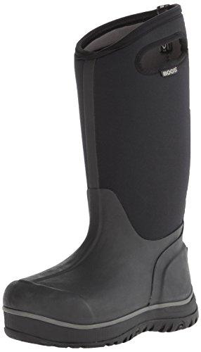 Bogs Women's Ultra High Waterproof Insulated Rain Boot, Black, 9 M
