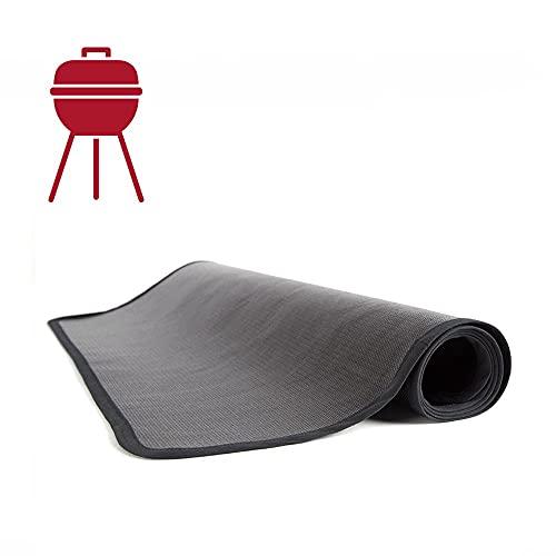 TEXFIRE - Alfombra ignífuga Doblecara, protector de suelo para barbacoa y parrilla (150x100 cm)