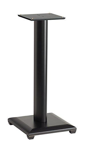 "Sanus NF24B Natural Foundations Series 24"" tall medium bookshelf speaker stands - Set of Two (Black)"