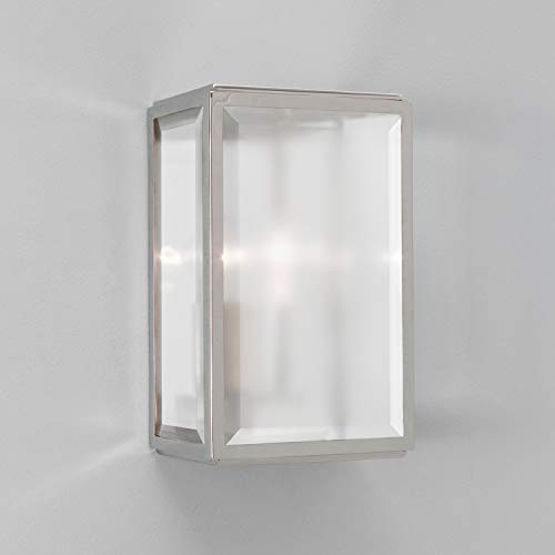 ASTRO 7083 - HOMEFIELD OUTDOOR WALL LIGHT NICKEL WITH FROSTED GLASS