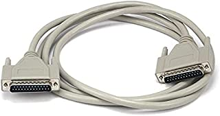 Monoprice 6 Feet DB25 M/M Molded Cable, Off White [1583]
