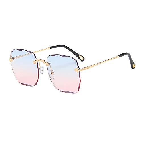 QFSLR Gafas De Sol De Color Degradado para Mujer, Diseño Sin Marco, Protección UV400, Adecuada para Viajes De Compras A La Playa,D
