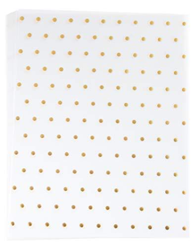 Carta pergamena–24-pack Metallic damasco modello traslucido cancelleria Paper, lato singolo, stampante friendly, ideale per scrapbooking, annuncio, fai da te, fogli lettera Dimensioni 21,6x 27,9cm