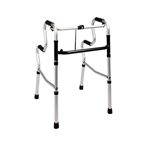 AXD Folding Lightweight Aluminium Height Adjustable Walking Frame, Toilet Safety Frame, Freestanding Stand Toilet Safety Rail Padded Armrest Walker for Elderly, Disabled, Injury