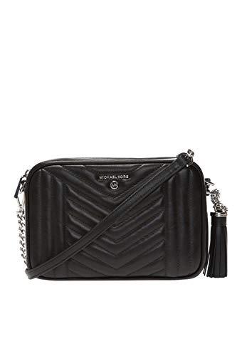 Michael Kors Damen Jet Set Medium Quilted Leather Camera Bag GENERICA Black