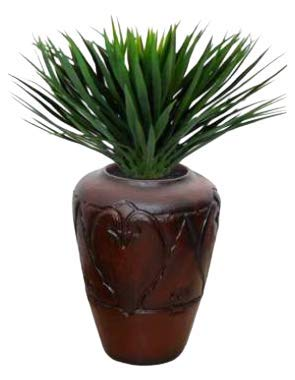MKS Kitchen Beautiful Square Eco-Friendly Polyethylene Decorative Leafy and Flowering Pot/Planter/Gamla Indoor Outdoor Home/Balcony/Office/Living Room (ABP-8)