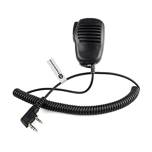 Altavoz remoto micrófono de hombro con botón PTT para radio Mitex Walkie Talkie de 2 pines