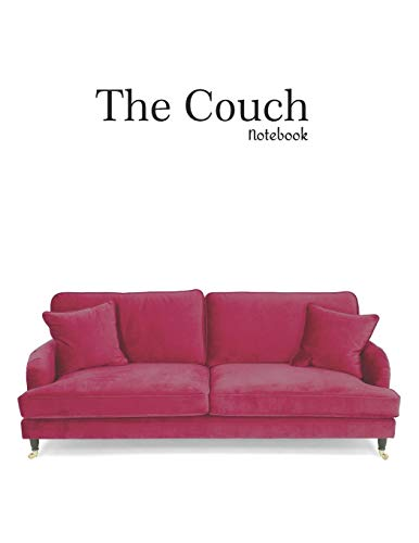 The Couch Notebook: 8,5 x 11 Inches 120 Lined Pages Couch Sofa Notebook Journal Gift for Designers Architekt pink