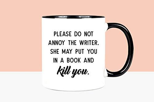 Regalo divertido para escritor divertido taza para escritor taza de café escritor taza taza taza de autor taza taza taza de autor por favor Do Not Annoy The Writer Mug Writers Present