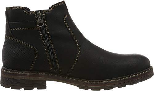 TOM TAILOR Herren 7985601 Klassische Stiefel, Schwarz (Black 00001), 44 EU