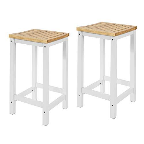 SoBuy FST29-WNx2 2er Set Stuhl Holzstuhl Essstuhl Küchenstuhl Hocker zum Küchenwagen