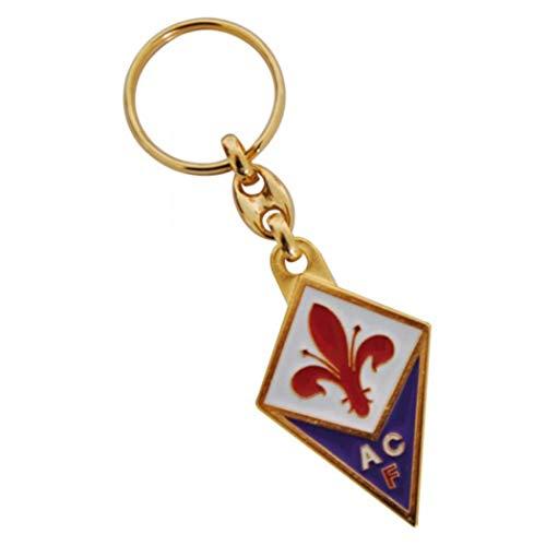 Giemme articoli promozionali Schlüsselanhänger vergoldet, AC Florenz, offizielles Produkt, Geschenkidee, Fußball