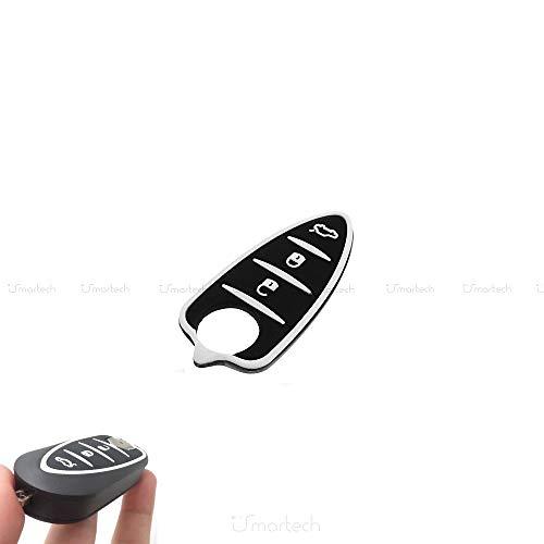 1neiSmartech Gummi 3 Tasten Pad Tastatur Mit Knopf Aus Gummi Fã¼R Schale Fernbedienung Schlã¼Ssel 3 Tasten Auto Alfa Romeo Mito Gto 159 Brera Giulietta Farbe Schwarz Mit Weiãÿen Einsã¤Tzen