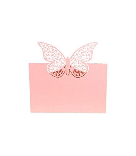 Theme & Deco Marque Place Table de fête Grand Papillon 20pcs Rose - Rose