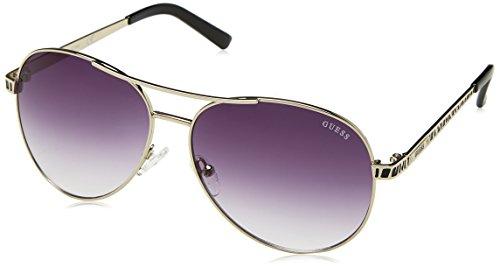 Guess Guf241Si-35A59 Gafas de sol, Plateado, 59 para Mujer