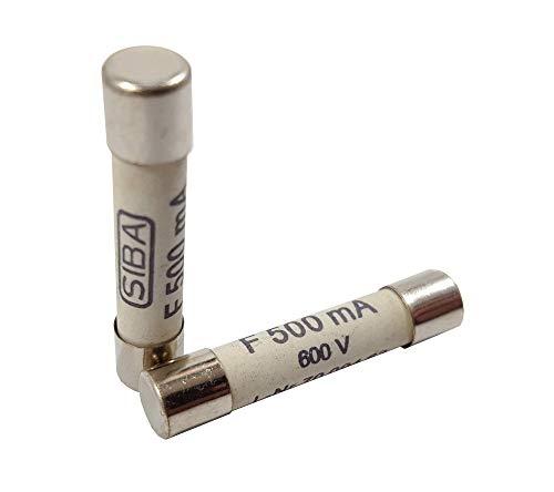 Zephyr 6.3 x 32mm 500mA (0.5A) 600V DC Digital Multi Meter Fuse (Set of 2)
