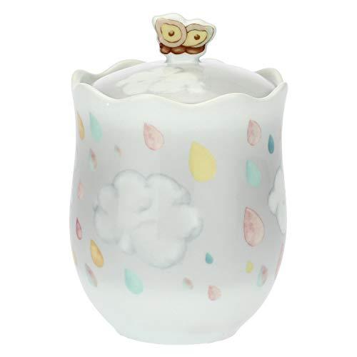 THUN ® - Barattolo - Porcellana - Linea Pioggia di Colori con Farfalla - h 12 cm