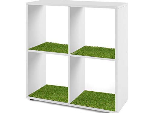 Primaflor - Ideen in Textil Chemin de Table en Gazon Synthétique pour étagère IKEA KALLAX - 38 x 33cm Herbe Synthétique Décoratif pour Kallax