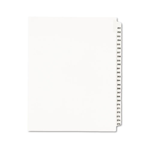 Avery - Avery-Style Legal Side Tab Divider, Title: 251-275, Letter, White, 1 ...