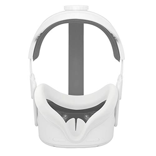 Esimen VR Face Silicone Mask Pad & Face Cover for Oculus Quest 2 Face Cushion Cover Sweatproof (Gray)