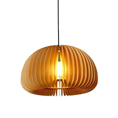 Chandelier de granja Luz colgante de estilo japonés Colgante de madera maciza Lámpara de luz de gama alta adecuada for dormitorio Hotel sala de estar Salones de vestíbulos Restaurante Lámparas de ilum