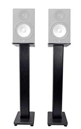 "(2) Rockville 36"" Studio Monitor Speaker Stands For Yamaha HS8 Monitors"
