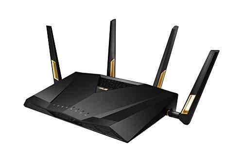 ASUS RT-AX88U Router Gaming AX6000 Dual Band WiFi 6 (802.11ax), Supporto Tecnologia MU-MIMO e OFDMA, Sicurezza di Rete AiProtection Pro, Acceleratore di Gioco WTFast Integrato e QoS Adattivo