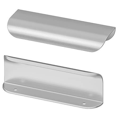 Ikea BILLSBRO - Tiradores de Aluminio con Efecto Cepillado (120 mm, 2 Unidades)