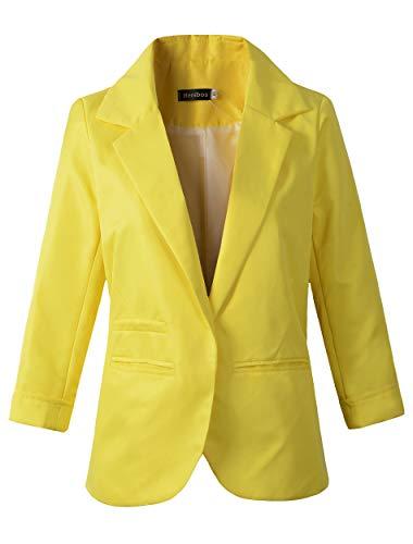 Benibos - Chaqueta de Traje - para Mujer Amarillo Amarillo L