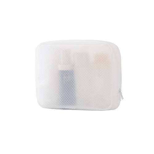 Froid Bolsa transparente para cosméticos, bolsa de maquillaje, bolsa con cremallera, organizador de cosméticos de viaje para mujeres y niñas
