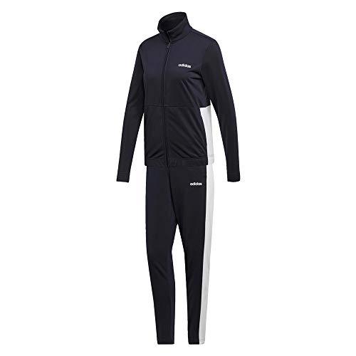adidas Damen Trainingsanzug WTS Plain Tricot Track Suit Legend Ink/White XL