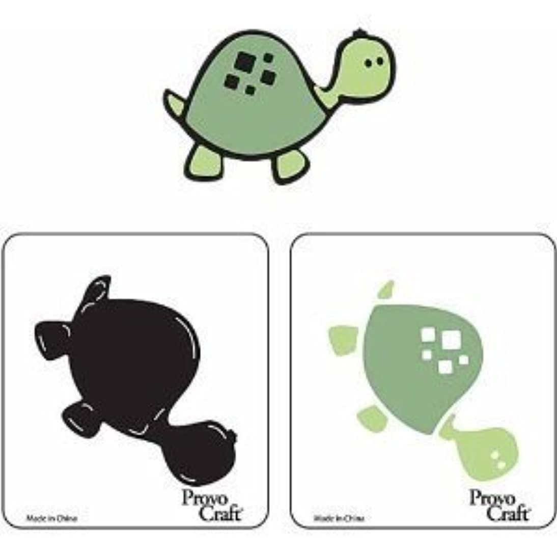 Provo Craft Cuttlekids SHELLIE the Turtle Die Cut 2pc